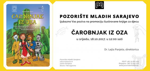 Promocija ilustrovane knjige za djecu Čarobnjak iz Oza