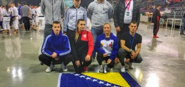 """Karatisti """"Mostara"""" Igor Grbić, Ena Dizdarević i Nermin Jašarević zlatni na Svjetskom prvenstvu"""
