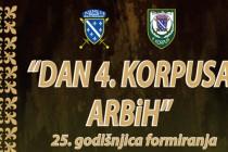 Obilježavanje 25. godišnjica formiranja 4. Korpusa ARBiH