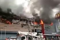 Desetine ljudi zarobljeno nakon požara u tržnom centru na Filipinima