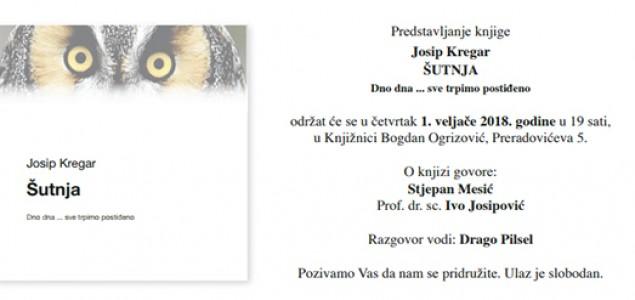 """Predstavljanje knjige Josipa Kregara """"ŠUTNJA – Dno dna … sve trpimo postiđeno"""""""