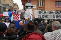 Prosvjed u Zagrebu zbog dolaska Vučića