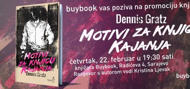 """Promocija romana """"Motivi za knjigu kajanja"""" autora Dennisa Gratza"""