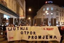 Tisuće na Noćnom maršu za 8. mart: Zahtijevamo ostavku ministrice Murganić!
