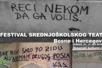 Danas otvaranje 17. Festivala srednjoškolskog teatra BiH