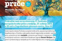 Festival europske kratke priče (Zagreb i Rijeka, 27.5. – 1.6. 2018.)