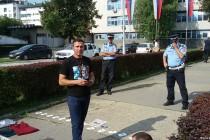 Pravda za Davida ispred Policijske uprave Banjaluka