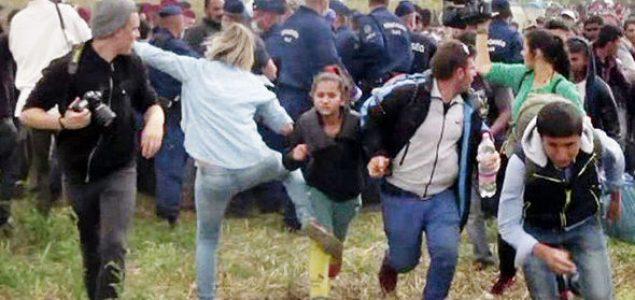Mađarska novinarka koja je nogom udarala migrante oslobođena