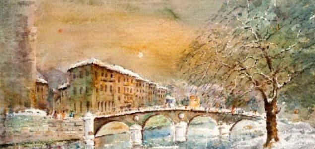 """Promocije knjige Gradimira Gojera """"Akvarel koji pjeva: o likovnom svijetu Fuada Arifhodžića"""" u Mostaru"""