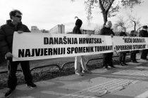 Prosvjed u Zagrebu: Tuđman ne zaslužuje spomenik
