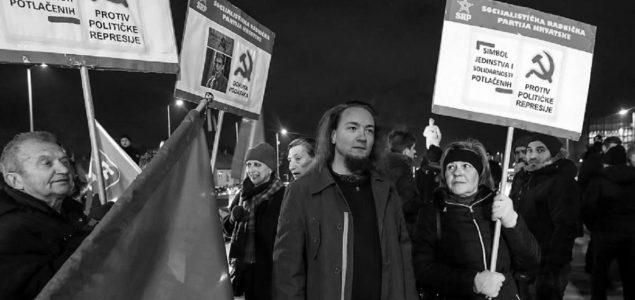Održan prosvjed ispred spomenika Franji Tuđmanu zbog političke represije