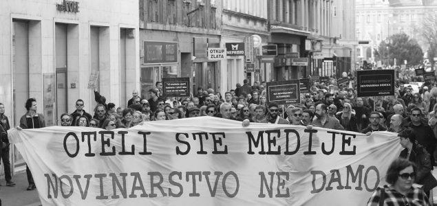 Novinarski prosvjed: Dosta nam je progona!