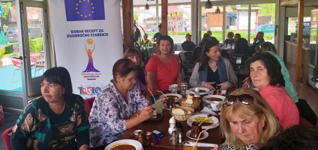 """Završna faza projekta """"Dobar recept za dugoročno starenje"""" udruženja žena Univerzum iz Mostara"""