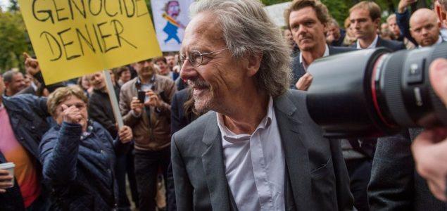 Manifestacija protiv dodjele Nobelove nagrade za književnost 2019.