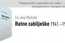 Predstavljanje knjige 'Ratne zabilješke 1941.-1945.' fra Josipa Markušića u Sarajevu