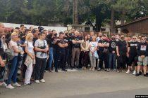 Ekstremni desničari pred migrantskim centrom