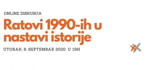 """Online debata """"Ratovi 1990-ih u nastavi istorije"""""""