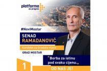 """Senad Ramadanović nosilac liste Platforme za progres: """"Birajte nove ljude za novi Mostar"""""""