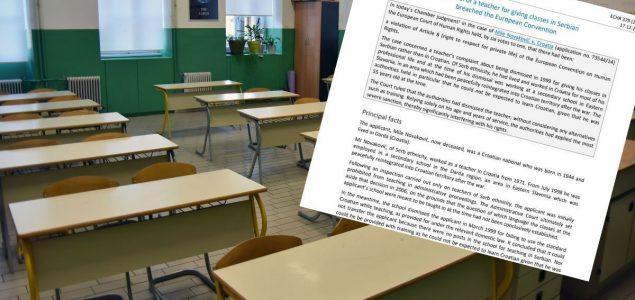 """Nastavnik dobio otkaz u školi jer je koristio srpsku riječ """"tavanica"""""""