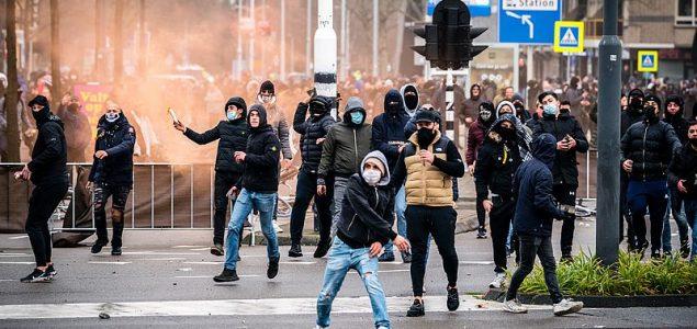 Nizozemska: Privedeno preko 150 osoba treće noći nasilnih protesta