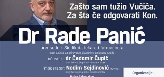 Skupština slobodne Srbije u Sremskoj Mitrovici: Dr. Rade Panić o Aleksandru Vučiću i dr Predragu Konu