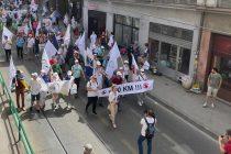 Protest Saveza samostalnih sindikata BiH u Sarajevu
